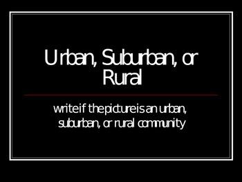 Urban/Suburban/Rural Powerpoint and Interactive Quiz