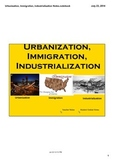 Urbanization, Immigration, & Industrialization of the 1800s