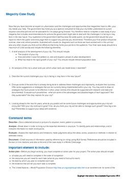 Urbanization - Megacity Case Study Task & Student Samples