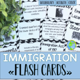 Immigration and Urbanization FLASH CARDS