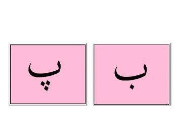 Urdu Word Wall Alphabet Letters: