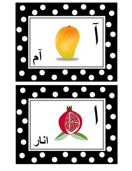 Urdu Word Wall Alphabet with Pictures:
