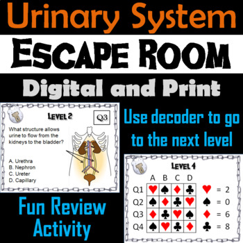 Urinary System Escape Room Science: Anatomy and Physiology (Human Body Activity)