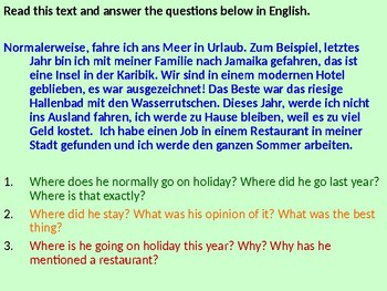 Urlaub / Die Ferien / Holidays / Where I Normally Go on Holiday