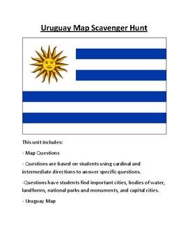 Uruguay Map Scavenger Hunt
