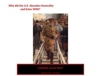 Us Enters World War I: Neautrality Collapses Causes and Results