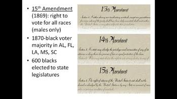 Us History Unit 2 - Civil War & Reconstruction PowerPoints
