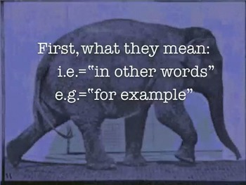Usage Tip: How to use i.e. and e.g.