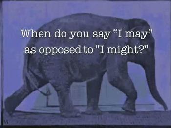 """Usage Tip: """"I may"""" vs. """"I might"""""""