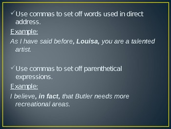 Usage/Punctuation: A Review of the Many Uses of Commas
