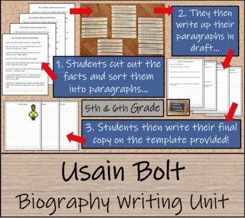 Usain Bolt - Biography Writing Unit