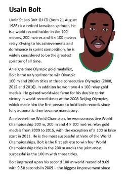 Usain Bolt Handout