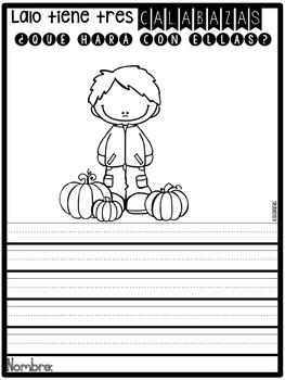 Usando la imaginación en Octubre {October Journal Prompts in Spanish}
