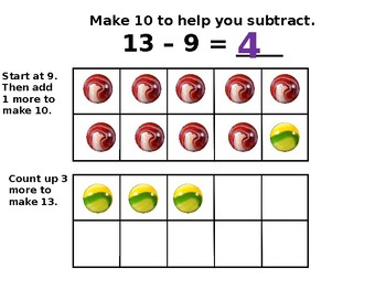 Use 10 to Subtract   CC.1.OA.6