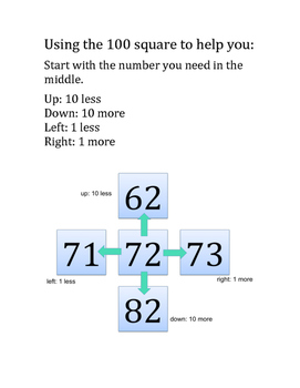 Use 100 Square to find 1, 10, 100 more or less