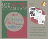 Use Better Vocabulary In Your Writing: nice and got (EFL Work Pack) 8+