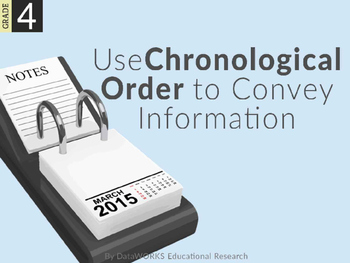 Use Chronological Order to Convey Information