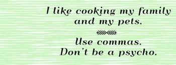 Use Commas Facebook Cover Photo