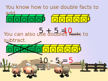 Use Doubles to Subtract Powerpoint