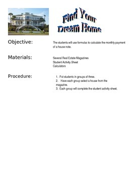 Use Formulas to Calculate the Monthly Mortgage
