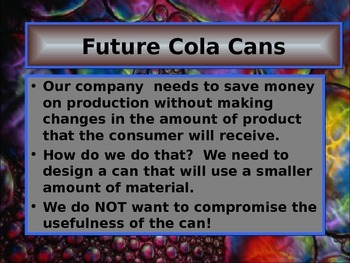 Use Formulas to Redesign the Cola Can