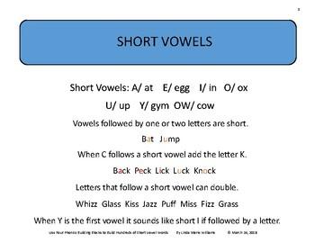 Use Four Phonics Blocks to Build Hundreds of Short Vowel Words