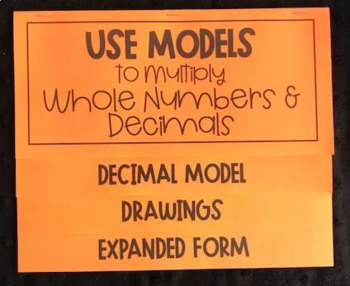 Use Models to Multiply Whole Numbers & Decimals (Foldable)