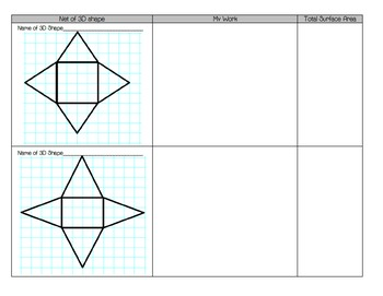 Use Nets to Find Surface Area