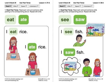 Use Past Tense: Lesson 4, Book 20 (Newitt Grammar Series)