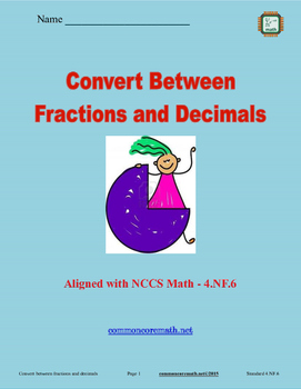 Use Place Value to Convert Decimals and Fractions - 4.NF.6