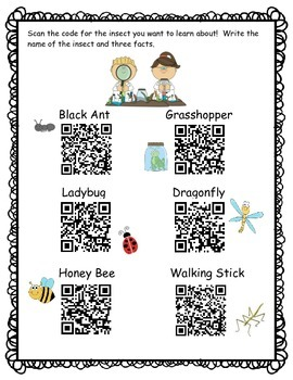 QR Codes to Learn About Insects