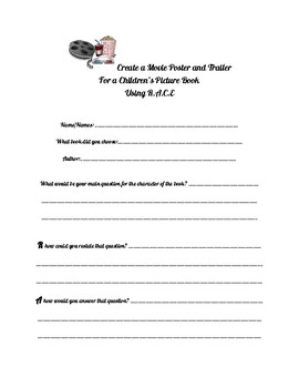 Use R.A.C.E to create a movie poster and trailer from a story book