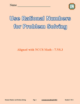 Use Rational Numbers for Problem Solving - 7.NS.3