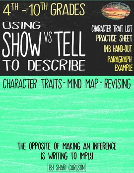 Using SHOW vs TELL to Revise ~ with a Google SLIDES Interactive Activity