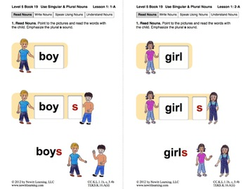 Use Singular and Plural Nouns: Lesson 1, Book 19 (Newitt Grammar Series)