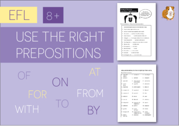 Use The Right Prepositions In English (EFL Work Pack) 8+