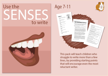 Use The Senses (sight, taste, smell, hearing, touch) To Write (7-11 years)
