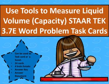 Use Tools to Measure Liquid Vol. Capacity STAAR TEK 3.7E W