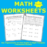 Use Trigonometry to Find Angles in Right Triangles Bundle