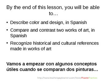 Use Venn Diagrams to Compare/Contrast/Review Hispanic Art