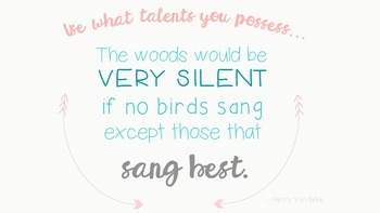 Use What Talents Classroom Poster