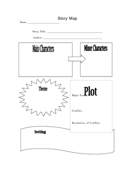 Use With Any Story: Graphic Organize for Mapping Story