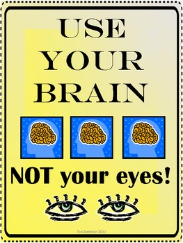 Use Your Brain Poster {freebie}