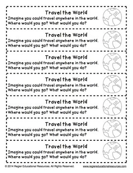 Writing Prompts About Imagination: 25 Cut-And-Paste Writing Prompts