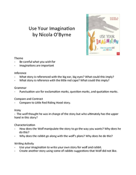 Use Your Imagination by Nicola O'Byrne - Literary Skills with Picture Books