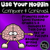 Use Your Noggin: Compare and Contrast Task Card Game