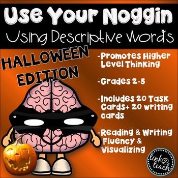 Use Your Noggin: Using Descriptive Words Halloween Edition Task Card Game