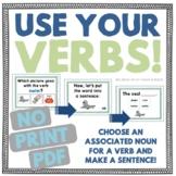 Use Your Verbs! Choose Associated Nouns & Verbs NO PRINT