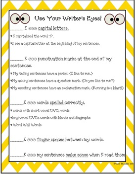 Use Your Writer's Eyes Checklist