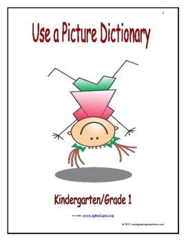 Use a Picture Dictionary to Find Words: Introduce/Practice/Assess